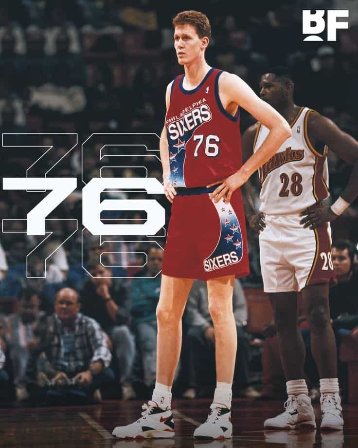 "Nicknamed ""the Stormin' Mormon,"" Shawn Bradley was one of the tallest NBA player of all time at 7 ft 6 in"