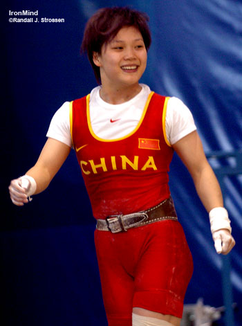 chinese female weightlifter