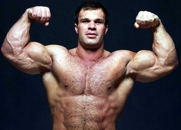 Russian arm wrestler Denis Cyplenkov